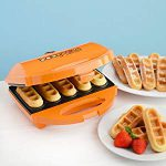 Baby Cakes 5 Waffle Stick Maker : More work than regular waffles but fun every once in a while
