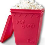 Cestari Kitchen Microwave Popcorn Popper | Replaces Microwave Popcorn Bags | Enjoy Healthy Air Popped Popcorn – No Oil Needed | BPA Free Premium European Grade Silicone Popcorn Maker by, Makes delicious popcorn!