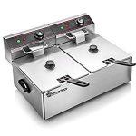 Cuisinairre Dual 6-Liter Commercial Restaurant Grade Stainless Steel Dual Deep Fryer – My Cuisinarre Fryer