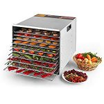 DELLA Commercial 1200W 10-Tray Food Dehydrator Nut Durable Fruit Sausage Jerky Dryer : Big but worth it.