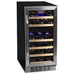 EdgeStar 26 Bottle Dual Zone Stainless Steel Built-In Wine Cooler – /Stainless Steel – Great wine fridge for the price