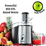Gourmia GJ750 Wide Mouth Fruit Centrifugal Juicer 850 Watts Juice Extractor – Great Machine/ Moist Pulp