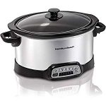 Hamilton Beach Programmable 5 Quart Slow Cooker : Won't work for making bone broth