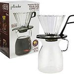 LOVATIC Primula Pike Pour Over Coffee Dripper and Carafe Set – Borosilicate Glass – For Light – Works well for hot and cold brew