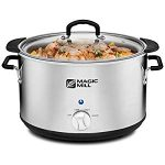 Magic Mill 10 Quart Slow Cooker 3 Manual Heat Settings Removable Pot – Never scrub a crock pot again.