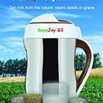 SoyaJoy G3 Soy Milk Maker – The Only Maker That Makes Fully Cooked As Well As Raw Milks From Beans – love this machine